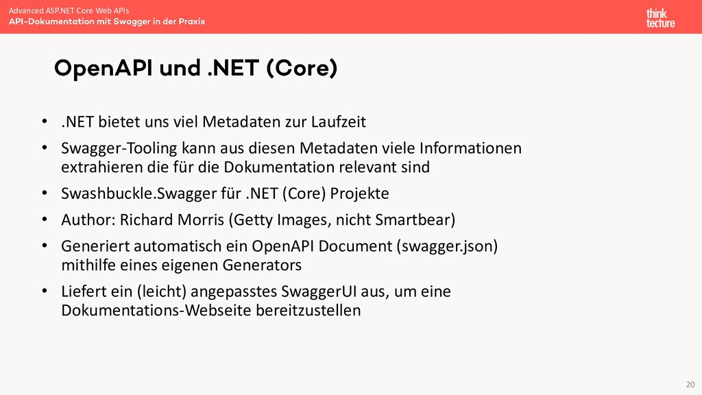 20 • .NET bietet uns viel Metadaten zur Laufzei...