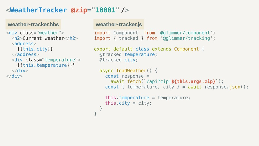 import Component from '@glimmer/component'; imp...