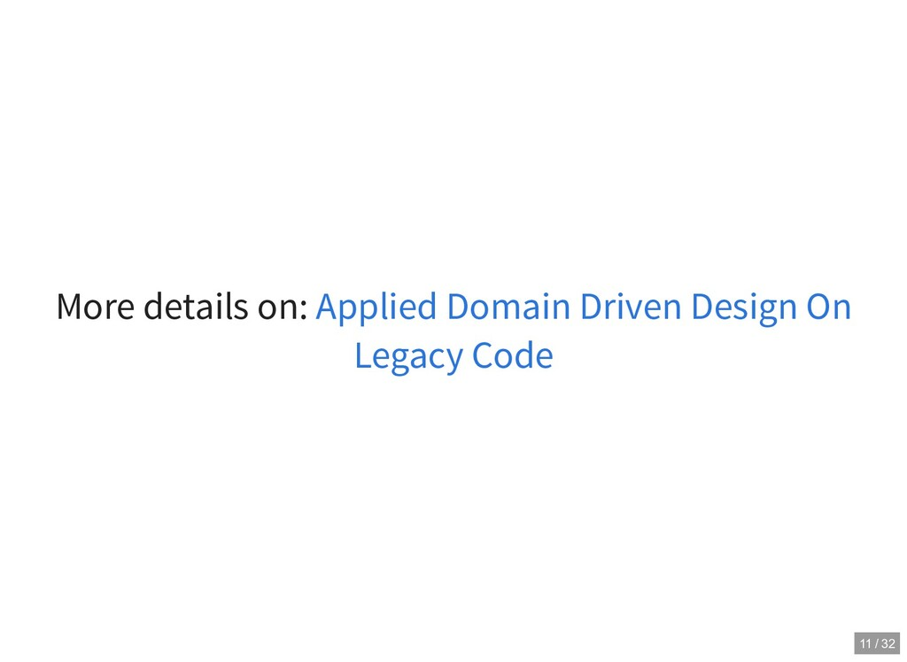 More details on: Applied Domain Driven Design O...