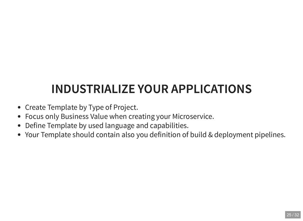 INDUSTRIALIZE YOUR APPLICATIONS INDUSTRIALIZE Y...