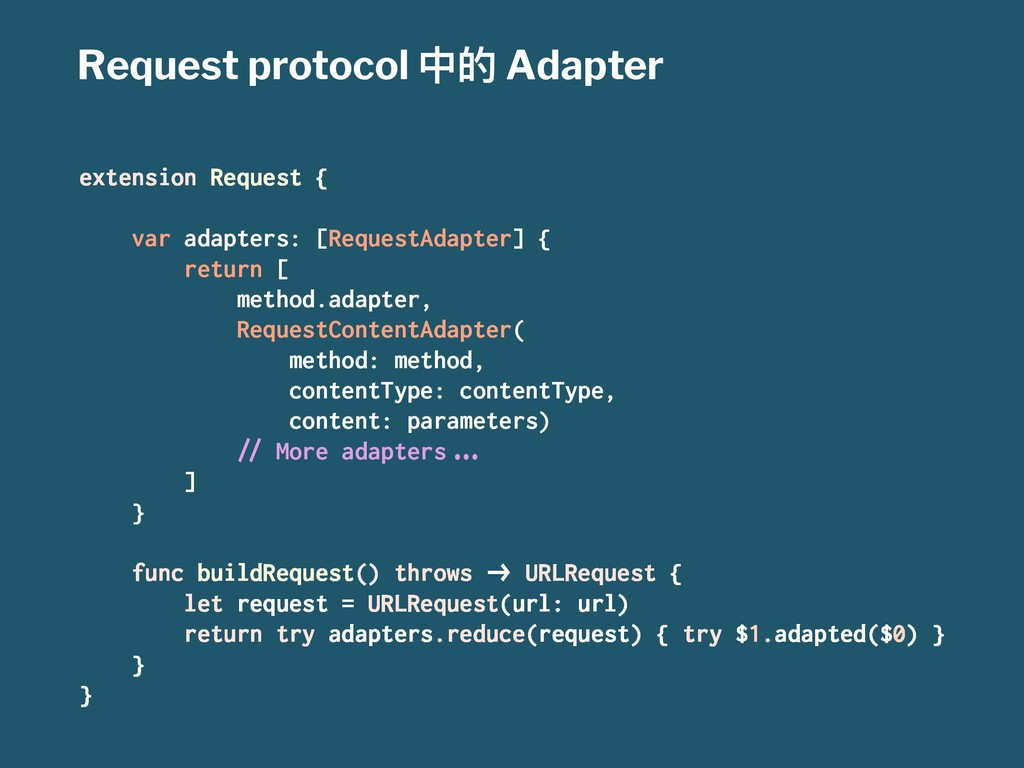 Request protocol Ӿጱ Adapter extension Request {...