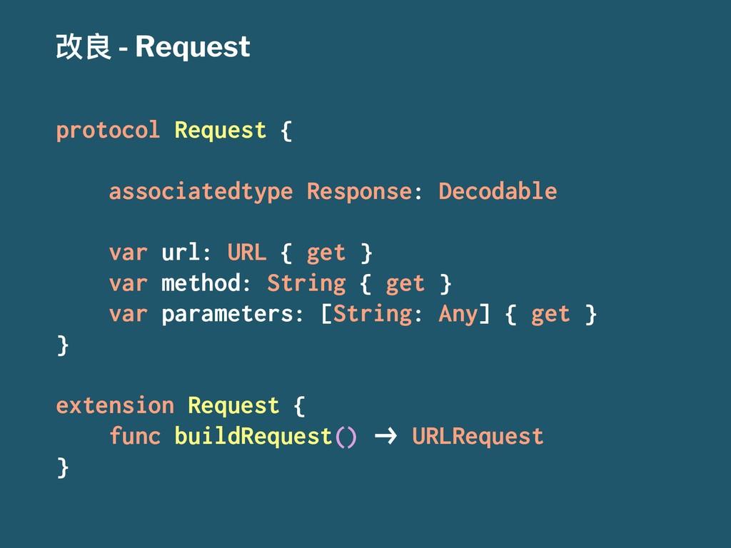 දᜉ - Request protocol Request { associatedtype ...