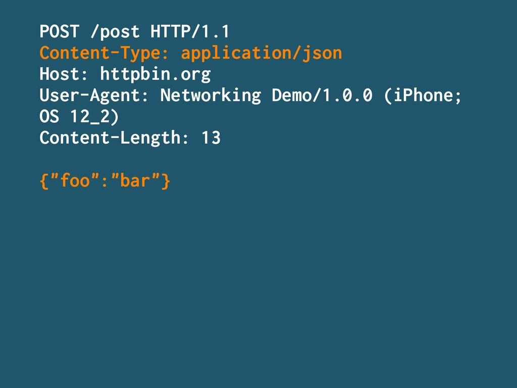 POST /post HTTP/1.1 Content-Type: application/j...