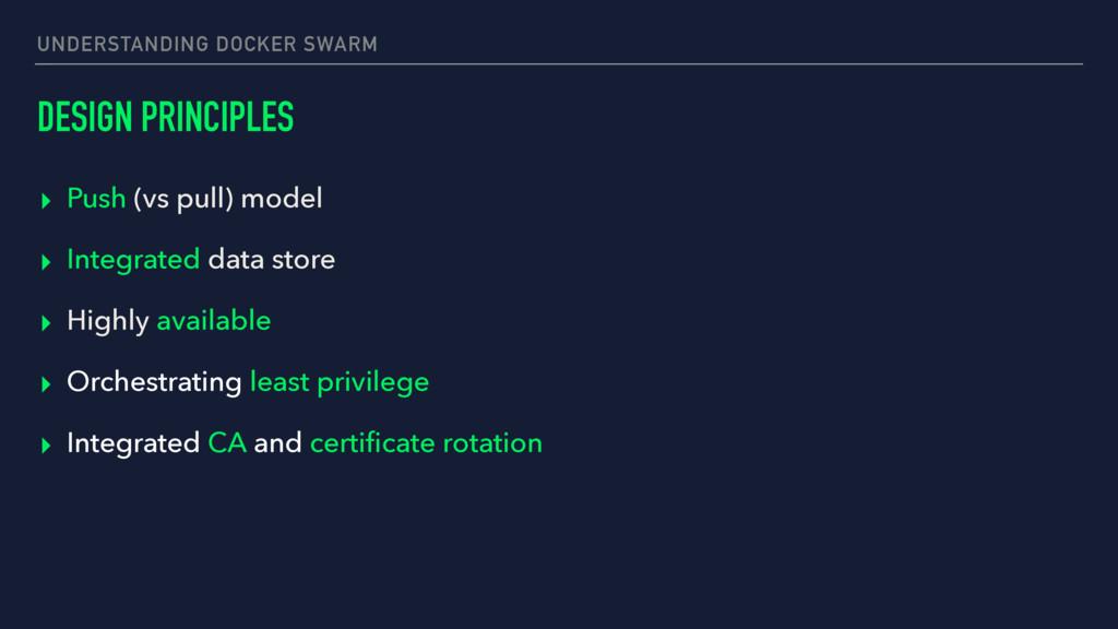 UNDERSTANDING DOCKER SWARM DESIGN PRINCIPLES ▸ ...