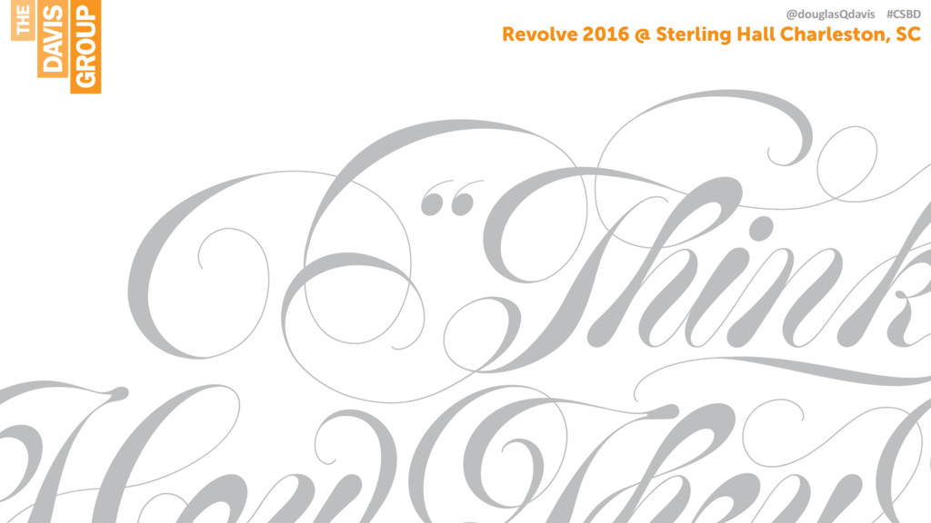 Revolve 2016 @ Sterling Hall Charleston, SC @do...