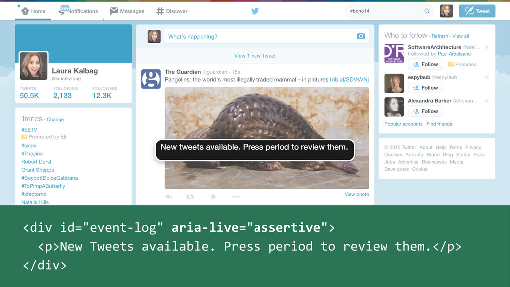 New tweets available. Press period to review th...