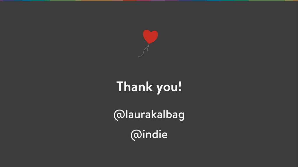 Thank you! @laurakalbag @indie