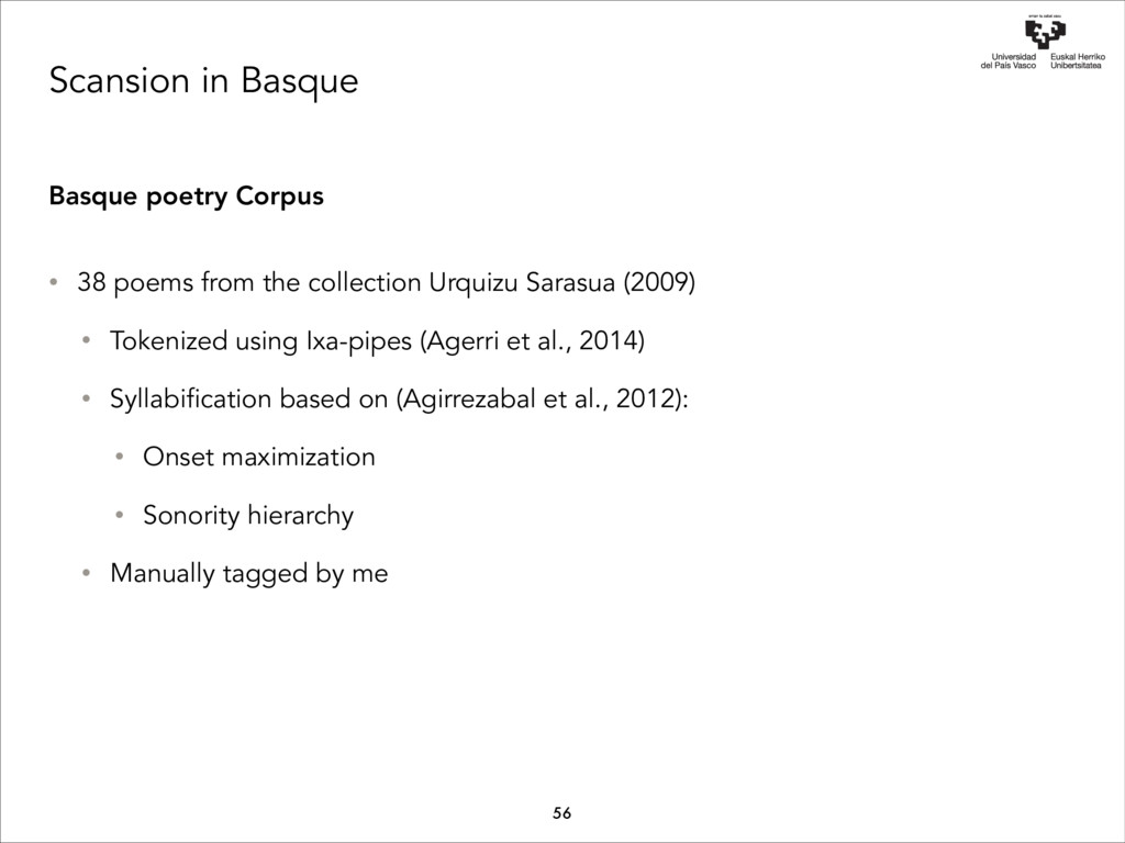 Scansion in Basque Basque poetry Corpus • 38 po...