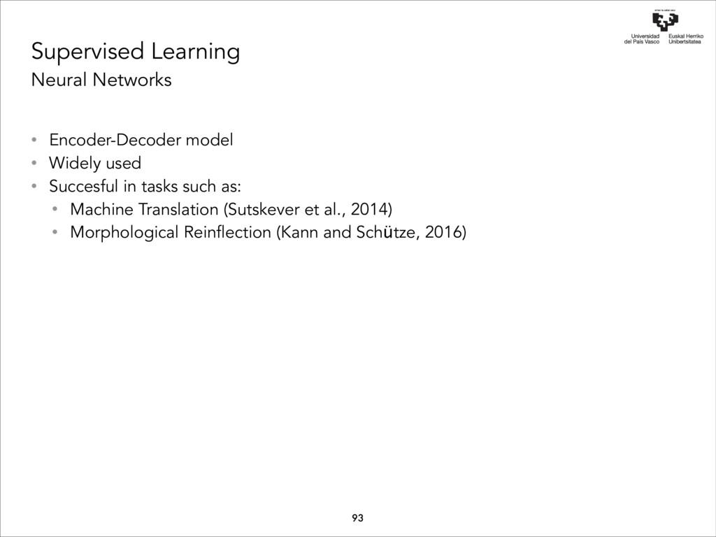 Supervised Learning Neural Networks • Encoder-D...