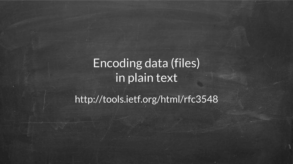 http://tools.ietf.org/html/rfc3548 Encoding dat...