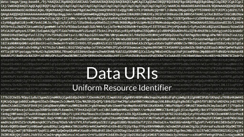 Data URIs Uniform Resource Identifier