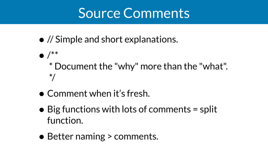 Source Comments • // Simple and short explanati...