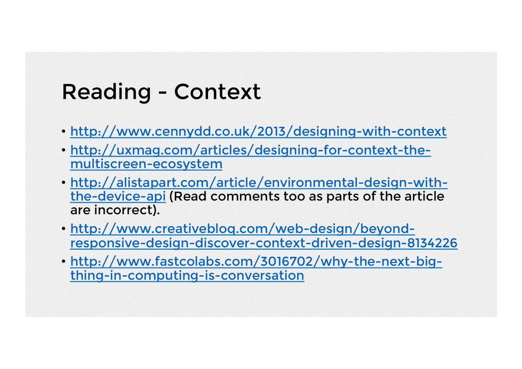 Reading - Context