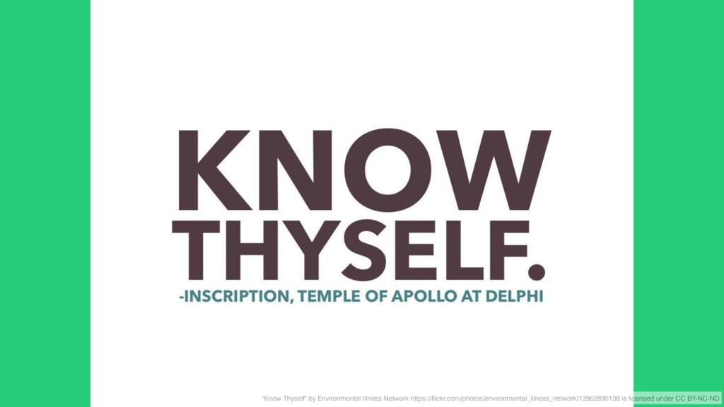 """Know Thyself"" by Environmental Illness Network..."