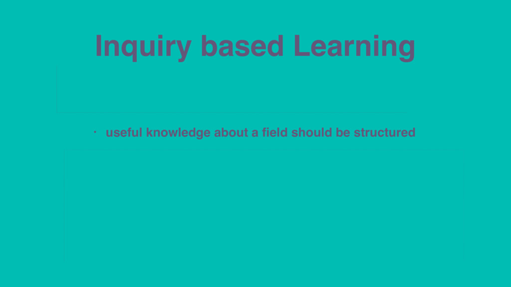 Inquiry based Learning • patterns and meanings ...