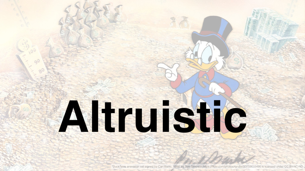 """Altruistic """"DuckTales animation cel signed by C..."""