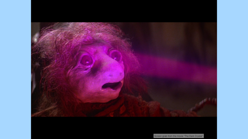 """Screen grab from the movie """"The Dark Crystal"""""""