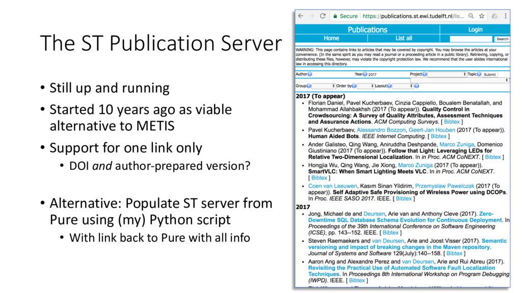 The ST Publication Server • Still up and runnin...
