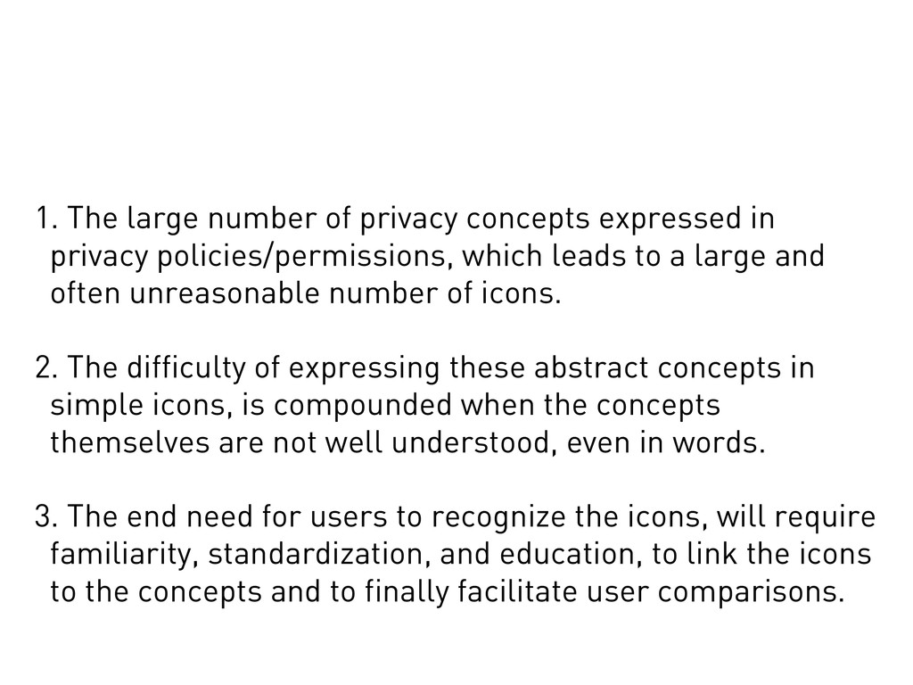 1. The large number of privacy concepts express...