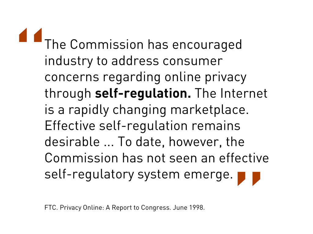 The Commission has encouraged industry to addre...