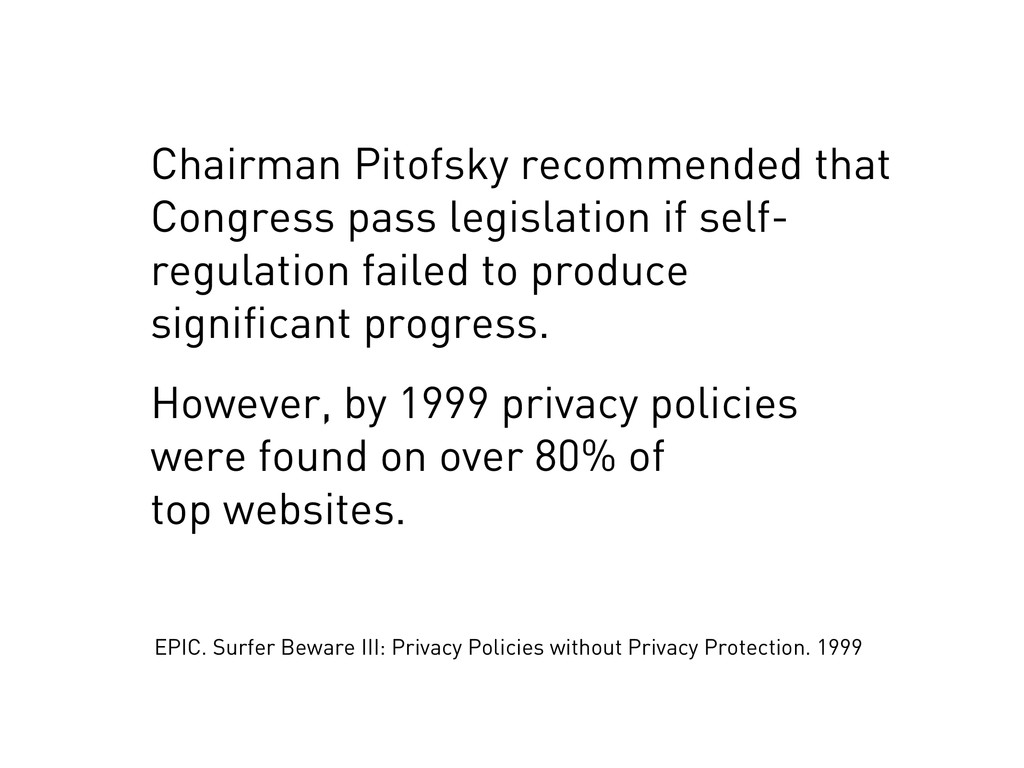 Chairman Pitofsky recommended that Congress pas...