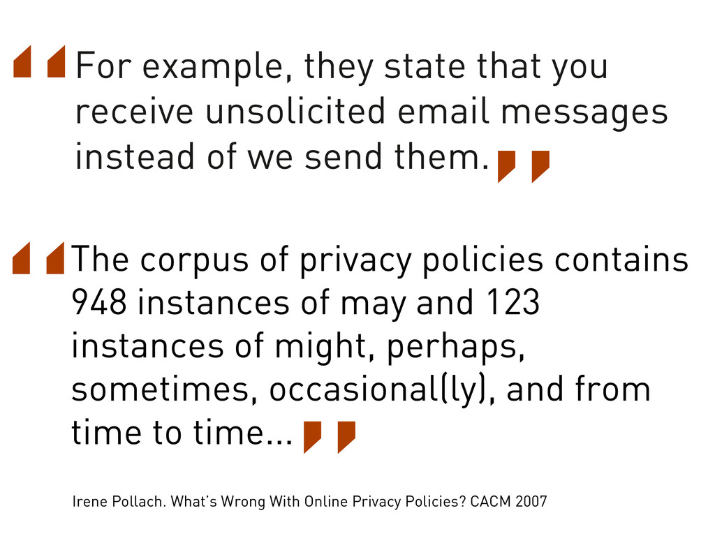The corpus of privacy policies contains 948 ins...