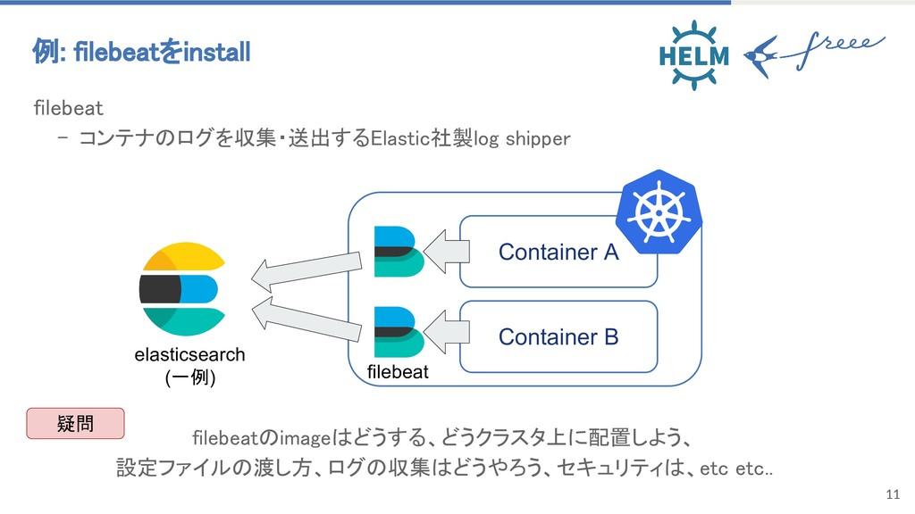 11 filebeat - コンテナのログを収集・送出するElastic社製log shipp...