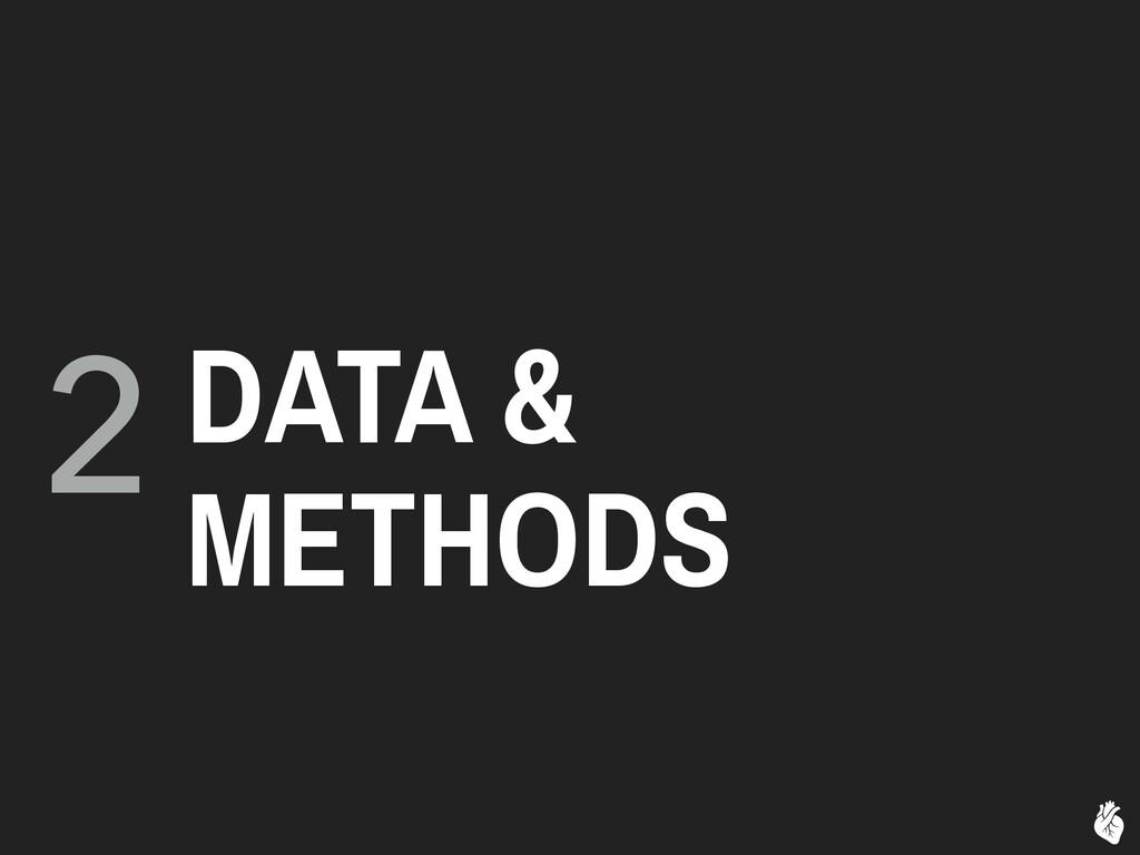 2 DATA & METHODS
