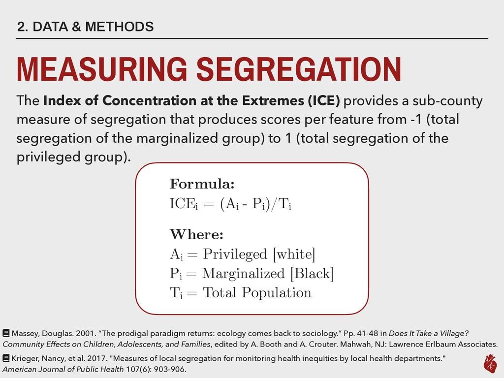 2. DATA & METHODS MEASURING SEGREGATION The Ind...