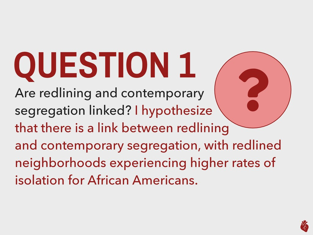 QUESTION 1 Are redlining and contemporary segre...