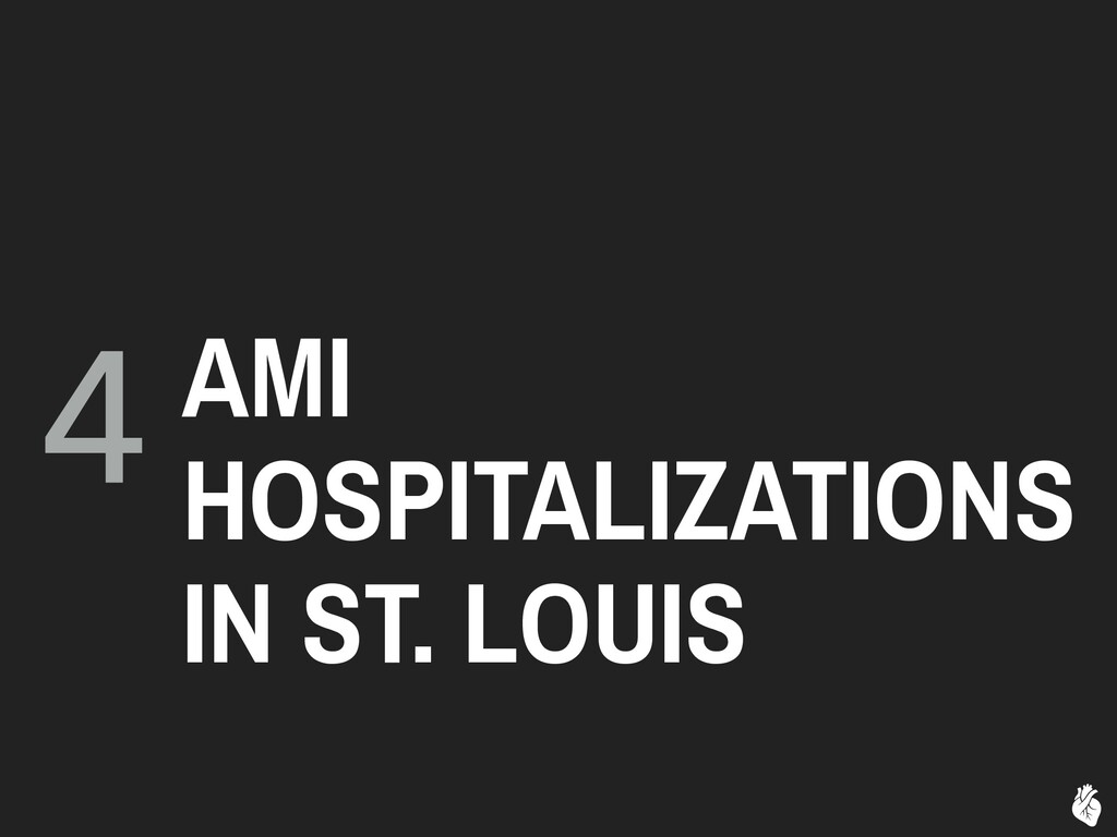 4 AMI HOSPITALIZATIONS IN ST. LOUIS