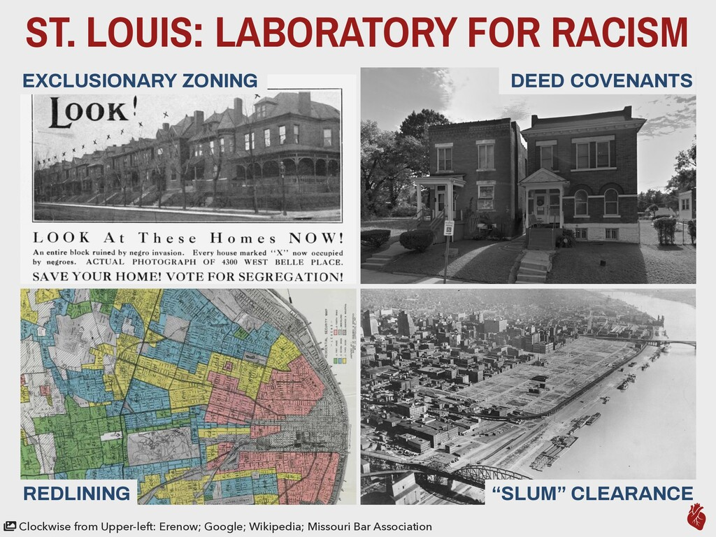 ST. LOUIS: LABORATORY FOR RACISM DEED COVENANTS...