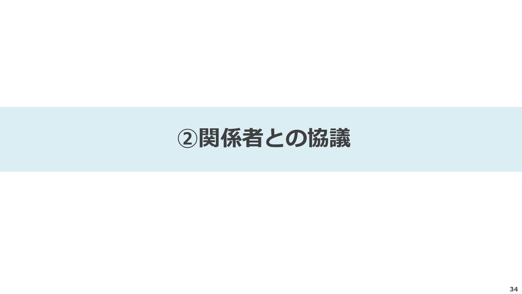 34 ②関係者との協議