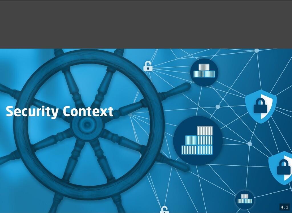 / Security Context Security Context 4 . 1