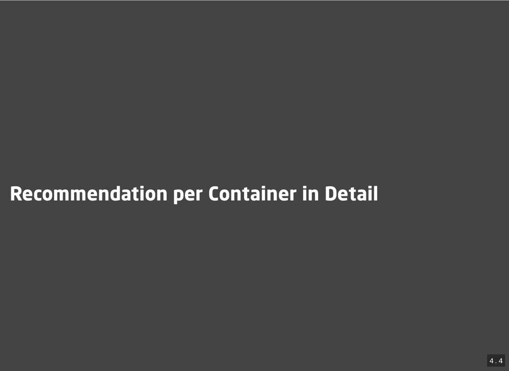 / Recommendation per Container in Detail Recomm...