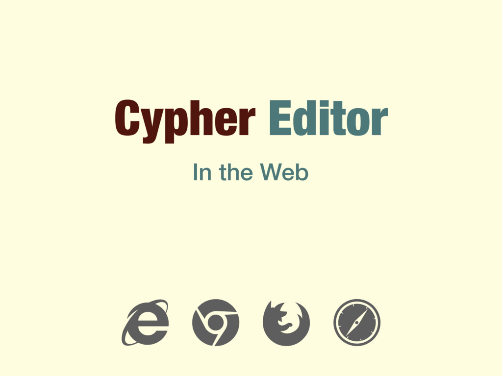 """Cypher Editor ! """" # $ In the Web"""