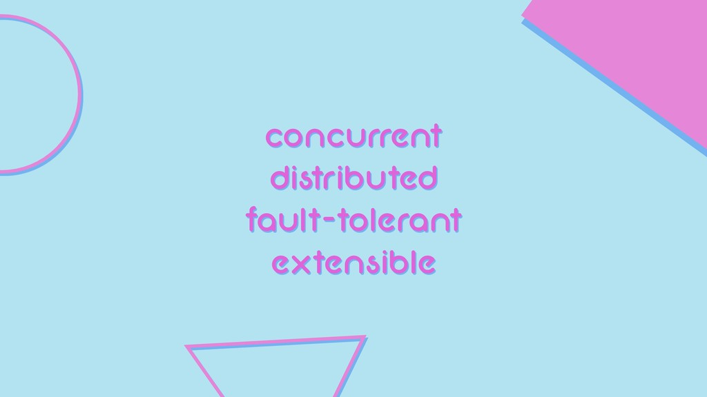 concurrent distributed fault-tolerant extensible