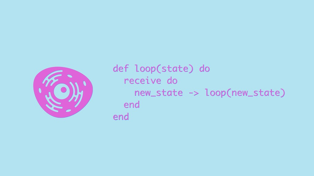 def loop(state) do receive do new_state -> loop...