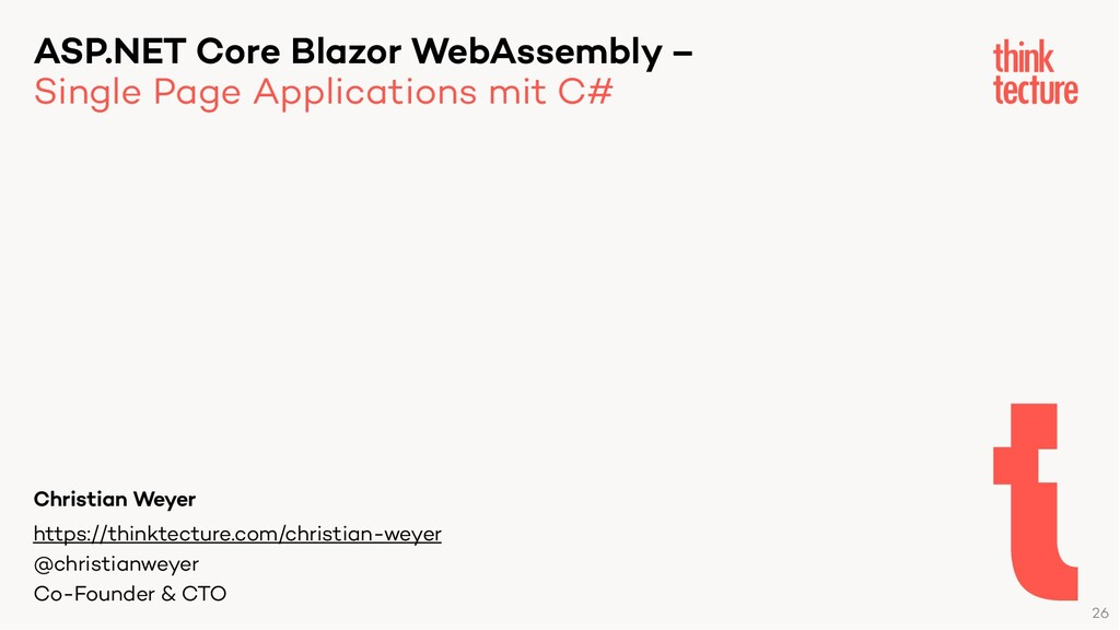 ASP.NET Core Blazor WebAssembly – Single Page A...