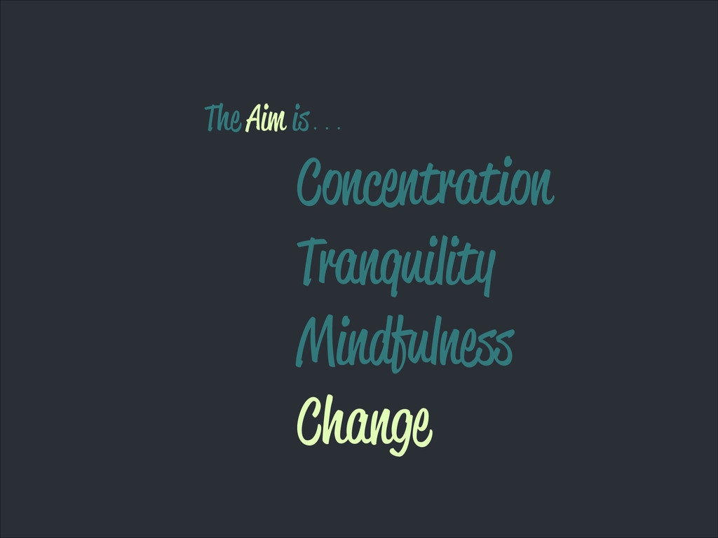 Concentration Tranquility Mindfulness Change Th...