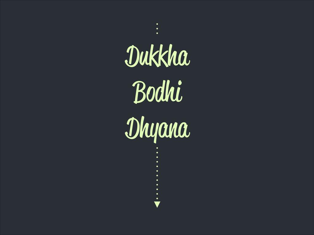 Dukkha Bodhi Dhyana