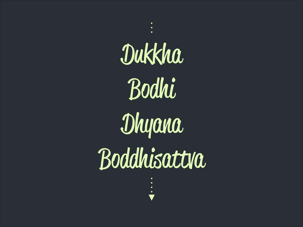 Dukkha Bodhi Dhyana Boddhisattva