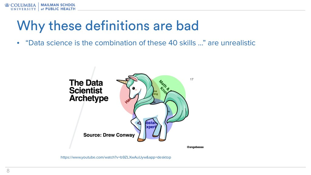 """8 • """"Data science is the combination of these 4..."""