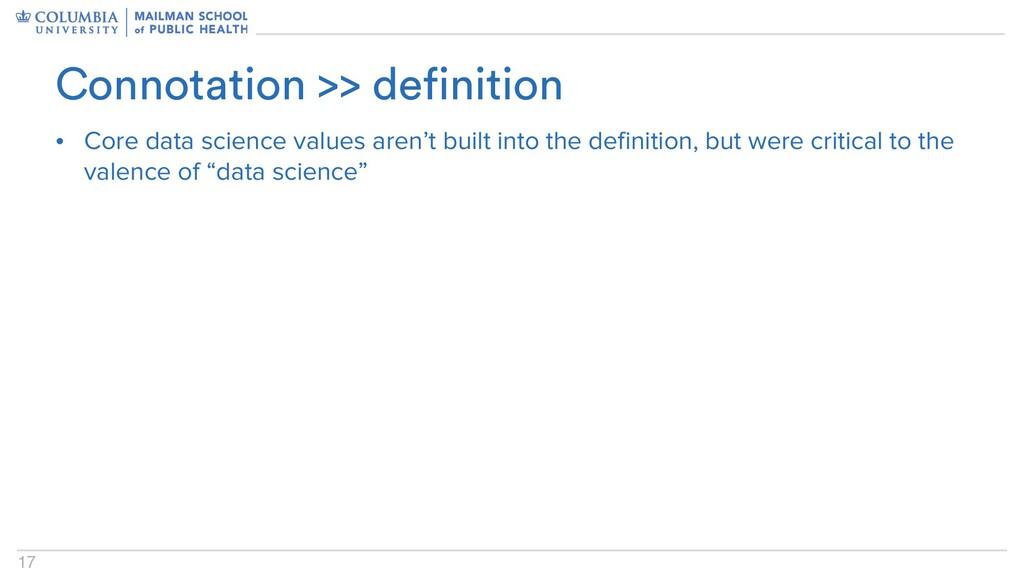 17 • Core data science values aren't built into...