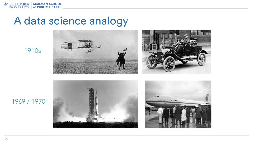 3 A data science analogy 1910s 1969 / 1970