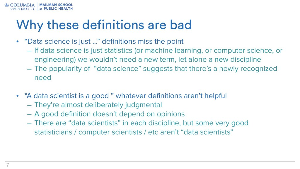 """7 • """"Data science is just …"""" definitions miss t..."""