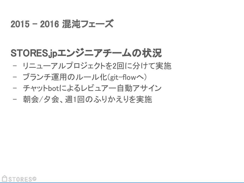 STORES.jpエンジニアチームの状況 - リニューアルプロジェクトを2回に分けて実施 - ...