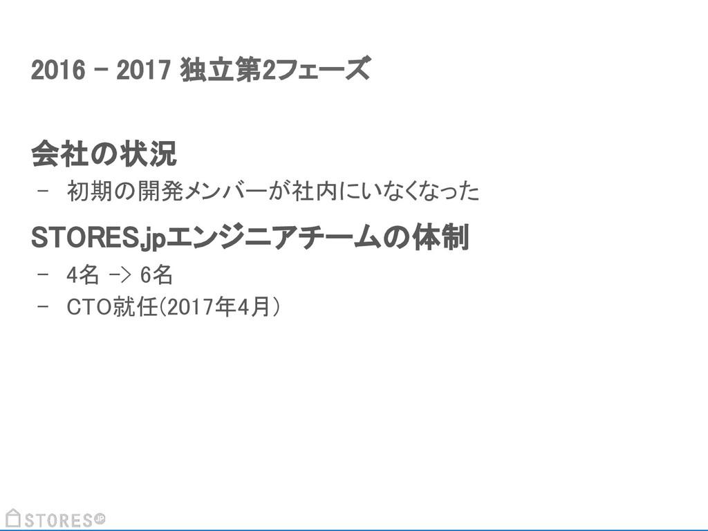 会社の状況 - 初期の開発メンバーが社内にいなくなった STORES.jpエンジニアチームの体...
