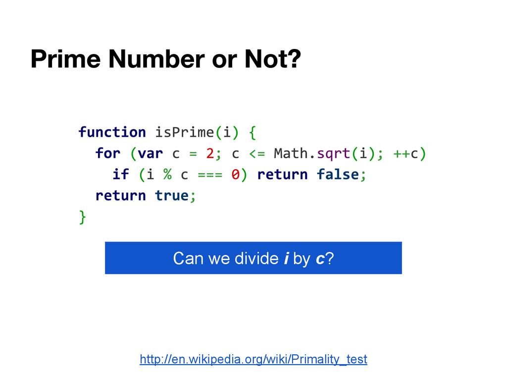 http://en.wikipedia.org/wiki/Primality_test Can...