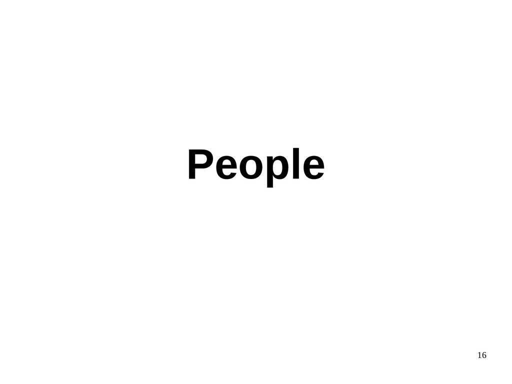 16 People